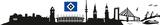 HSV Skyline Mit Logo 2 Sheets Wandtattoo