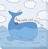 Baleine bleue Reproduction transférée sur toile par Jen Skelley