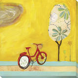 Summer Bike Stretched Canvas Print by Cathy Nichols