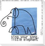Little Elephant Song Reproduction transférée sur toile par  KOCO