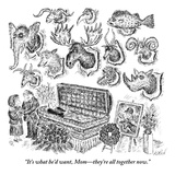 """It's what he'd want, Mom—they're all together now.""  - New Yorker Cartoon Premium Giclee Print by Edward Koren"