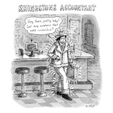 "Title: ""Rhinestone Accountant"" - New Yorker Cartoon Premium Giclee Print by Roz Chast"