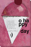 Today Should Always be our Most Wonderful Day (Ice Cream Cone) Stretched Canvas Print by  KOCO