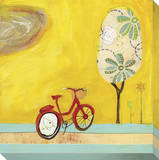 Summer Bike Stretched Canvas Print by  KOCO