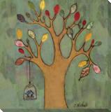 KOCO - Birdcage on Tree Reprodukce na plátně