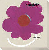 ABCDEFG is for Girl (Pink Flower) Stretched Canvas Print by  KOCO