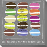 Petite Macarons Stretched Canvas Print by  KOCO