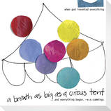 A Breath as Big as a Circus Tent Stretched Canvas Print by  KOCO
