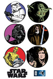 Star Wars Embleme 7 parts wandtattoos