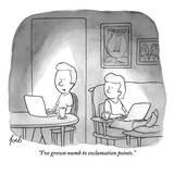 """I've grown numb to exclamation points."" - New Yorker Cartoon Premium Giclee Print by Tom Toro"