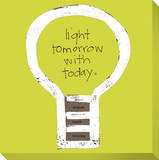Light Tomorrow with Today Stretched Canvas Print by  KOCO