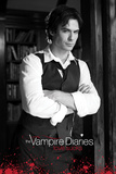 Vampire Diaries-B&W-Damon Photo