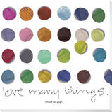Love Many Things Dots on White Stretched Canvas Print by  KOCO