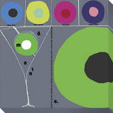 Modern Martini Stretched Canvas Print by  KOCO