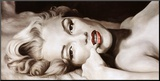 Reclined Marilyn Mounted Print by Frank Ritter