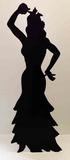 Flamenco Dancer -Silhouette Pappfiguren
