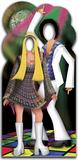 Silhouette trompe l'œil Couple Disco Silhouette en carton