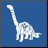 Brontosaurus Mounted Print