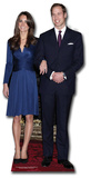 Prince William and Miss Middleton Silhouette en carton