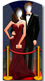 Red-Carpet-Hollywood Couple-Stand In Silhouette d&#233;coup&#233;e