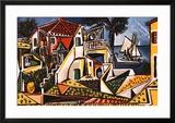 Paisagem mediterrânea Poster por Pablo Picasso