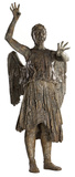 Doctor Who-Weeping Angel Attacking Pappfigurer