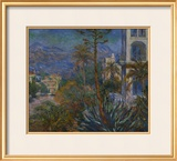 The Villas at Borighera Framed Giclee Print by Claude Monet