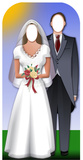 Wedding Couple-Stand-In Silhouette découpée