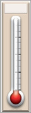 Fundraising Thermometer Lifesize Standup Figura de cartón