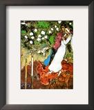 Tres velas Lámina por Marc Chagall