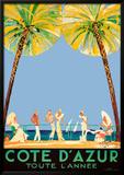Costa Azul Obra de arte por Jean-Gabriel Domergue