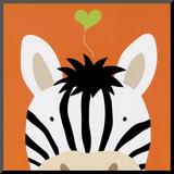 Peek-a-Boo XII, Zebra Mounted Print by Yuko Lau