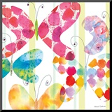 Butterfly Square I Mounted Print by Maria Carluccio