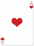 Ace of Hearts Stand Up