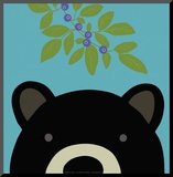 Peek-a-Boo Bear Mounted Print by Yuko Lau