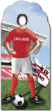 England Football-Stand-In Papfigurer