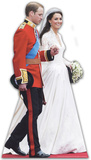 William and Kate Wedding Silhouettes découpées en carton
