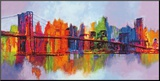 Abstract Manhattan Mounted Print by Brian Carter