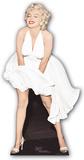 Marilyn Monroe -White Dress Blowing Up Silhouette en carton
