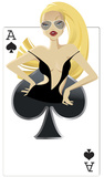 Spades Babe Silhouette d&#233;coup&#233;e