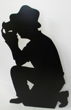 Photographer-Silhouette Pappfigurer
