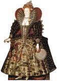Reine Elisabeth Ière Silhouettes découpées en carton