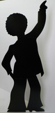 Disco Dancer - Male Silhouette Pappfigurer