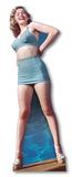 Marilyn Monroe -Blue Bikini Silhouettes découpées en carton