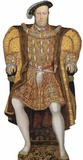 Roi HenryVIII Silhouettes découpées grandeur nature