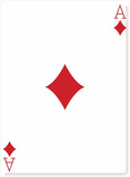 Ace of Diamonds Silhouette en carton