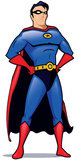 Superhero Cut-out Silhouette en carton