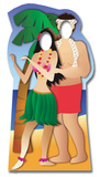 Hawaiin Couple Stand-In Silhouettes découpées en carton