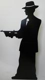 Gangster-Silhouette -Single Silhouette en carton