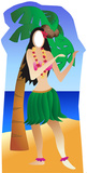 Hula Girl Stand-In Cardboard Cutouts